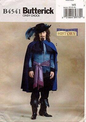 Butterick Herren Musketier Kostüm Muster B4541 Größe 40-44 (Butterick Herren Kostüm Muster)