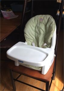Portable reclining baby seat