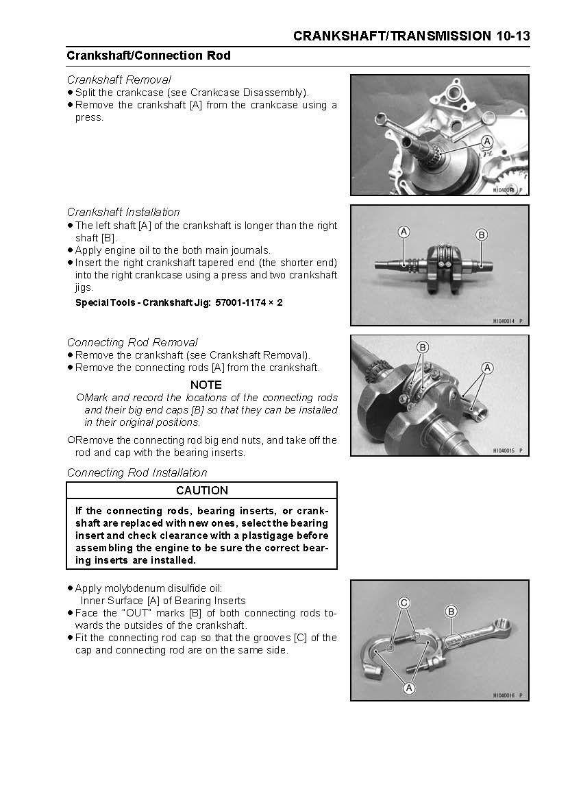 6 of 12 Kawasaki service manual 2005, 2006 & 2007 BRUTE FORCE 750 4×4i KVF  750