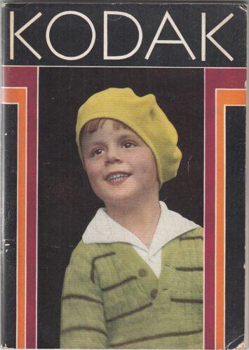 Kodaks and Kodak Supplies (1931) VINTAGE CATALOGUE~CAMERAS~DEVELOPMENT~ILLUS.