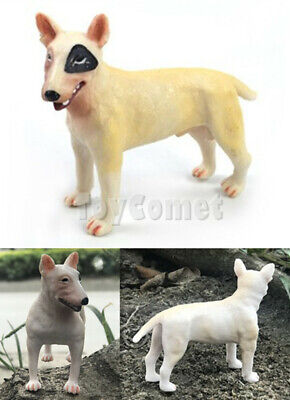 Toy Bull Terrier - 8.5cm Bull Terrier Male Dog Pet Model Realistic Animal Figure Solid Plastic Toy