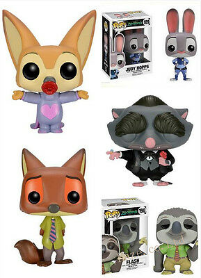 Movie TOY Zootopia Nick/Judy/Flash/Mr. Big/Ele Finnick PVC Cute Fox