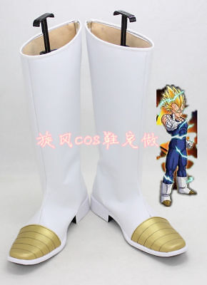 Dragon Ball Z Vegeta Halloween White Long Cosplay Shoes Boots HH.11](Dragon Ball Z Halloween Costumes Vegeta)