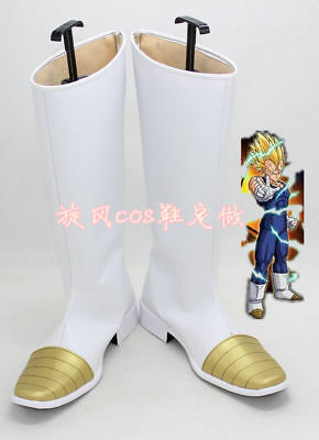 Dragon Ball Z Vegeta Halloween White Long Cosplay Shoes Boots HH.11