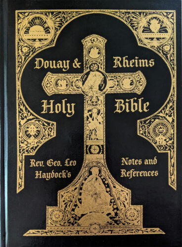Douay-Rheims Haydock Bible NEW Deluxe Rare Black Leather Traditional Catholic