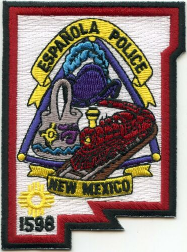 ESPANOLA NEW MEXICO NM State Shape Shaped POLICE PATCH