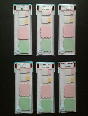 Lot Of 6 Martha Stewart Planner Insert Notetab Note Tabs Sticky Notes Avery