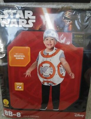 Star Wars BB-8 Droid Child COSTUME Toddler 2T 3T NEW Movie Halloween Jedi Rubies](Droid Costume)
