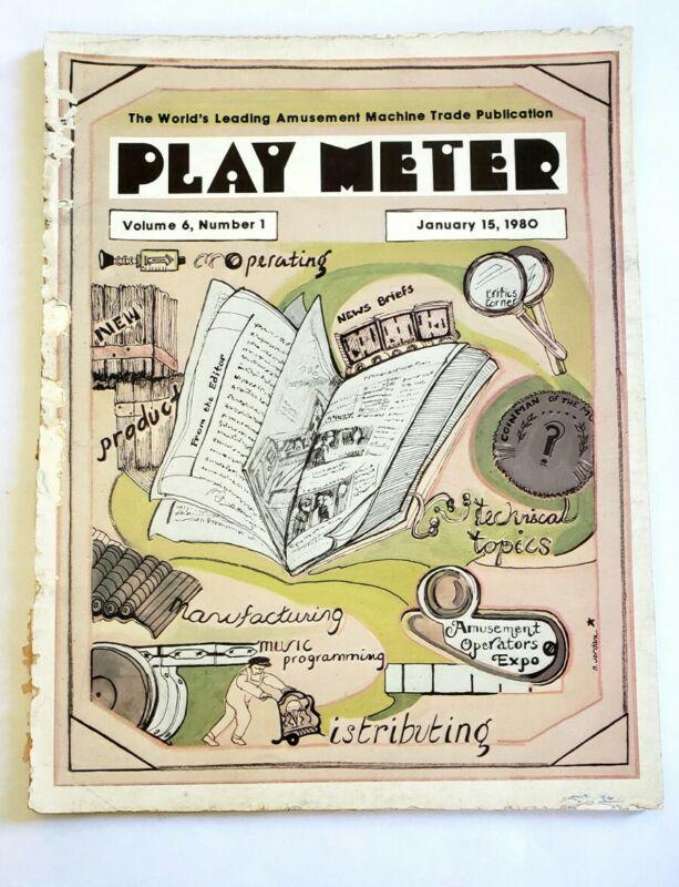 VINTAGE PLAY METER MAGAZINE JAN 15 1980 - VOL 6 NUMBER 1 COIN OP BACK ISSUE