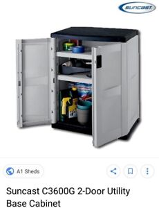 Two door utility cabinet for outdoor