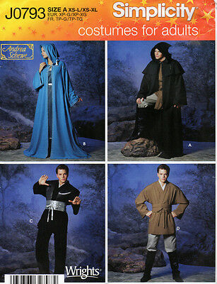 SimplicityPattern J0793 Misses' Men's & Teen Boys' Robe Costumes Halloween Ninja