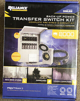 Reliance 306lrk Complete Pre-wired 6-circuit Transfer Switch Kit P2. Brand New.