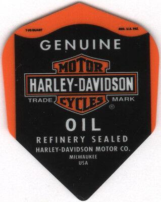 Harley Davidson OIL Can Dart Flights: 3 per set