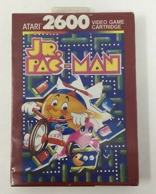 VINTAGE 1980s JR. PAC-MAN ATARI 2600 VIDEO GAME FACTORY SEALED NEW UNOPENED!
