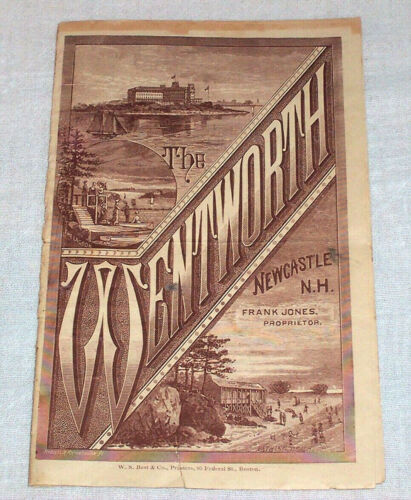 1886 Antique Brochure , The Wentworth Hotel New Castle New Hampshire NH Seaside