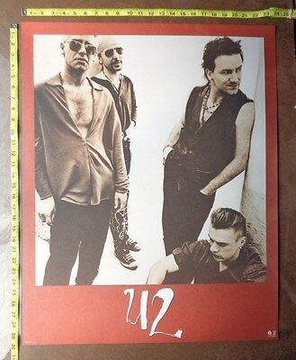 "U2, 24x30"" Poster,,Very RARE Original,Record company promo,1991 ACHTUNG BABY for sale  Shipping to Canada"