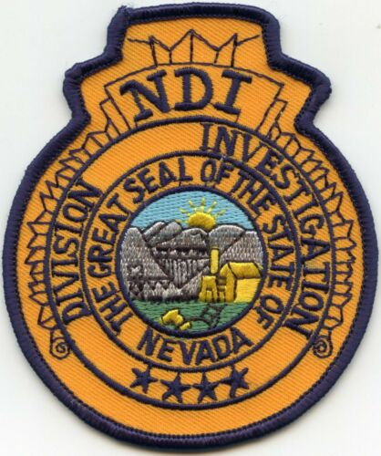 NEVADA NV STATE Division of Investigations NDI POLICE PATCH