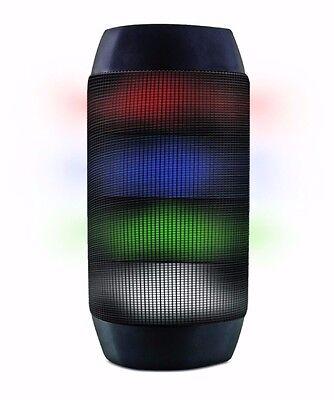 [Upgraded] LED Portable Bluetooth Speaker - Flashing Color-Change Light Up + Mic