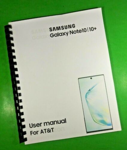 """LASER 8.5X11"""" Samsung Galaxy Note10 10+ AT&T 194 Page Owners Manual Guide"""