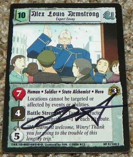 Chris Sabat Fullmetal Alchemist Alex Louis Armstrong Signed Trading Card Auto