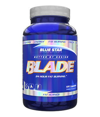 Blue Star Nutraceuticals Blade Fat Burner Mens Weight Loss Diet Supplement - Blue Blade
