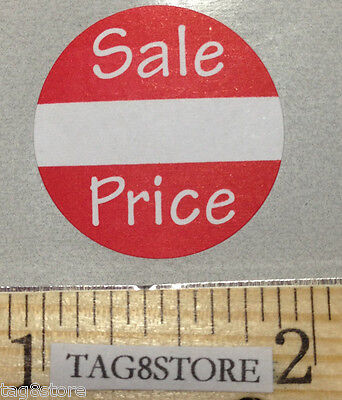 500 Self-adhesive Sale Price Round Retail Labels 1 Sticker Tags Retail Sales