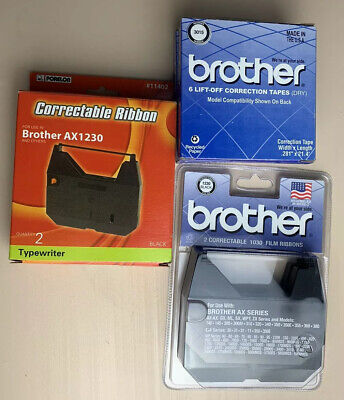 COMPATIBLE BROTHER AX-300 ELECTRONIC*CORRECTABLE FILM RIBBON+LIFT OFF TAPE COMBO