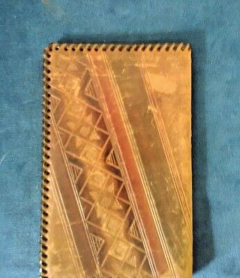 Small ESTONIA Handmade LEATHER Pew Holy Bible Cover Hand Tooled Embossed Rare 😏