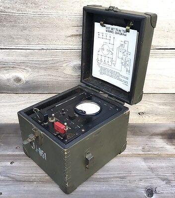 Rare Vintage Military Multimeter O. B. Mcclintock Co. Model Ts-26