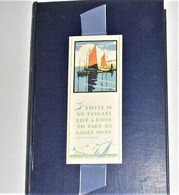 Vintage Medici Society Bookmark Frank Sherwin Print Emily Dickinson Frigate Poem