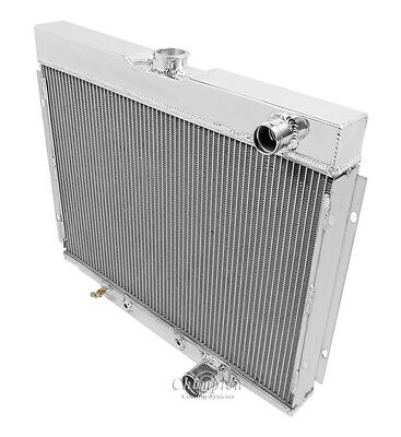1967 1968 1969 1970 FORD MUSTANG 4 Row All Aluminum Champion Radiator DR