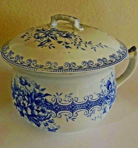 Antique  F.J. Emery  Chamber Pot Sherwood  Transfer Ware  Burslem England
