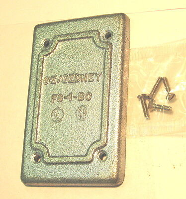 O-Z Gedney FS-1-BC Cast Iron Electrical Outlet Box Cover FS/FD Style Single Gang