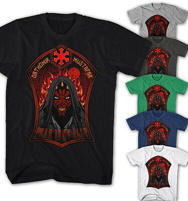 ★Herren T-shirt Darth Maul Fear is my ally Star Wars Movie Film Game DM11115★ ()