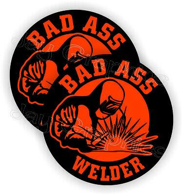 Bad Ass Welder Funny Hard Hat Stickers Welding Helmet Decals Mig Tig Weld Usa