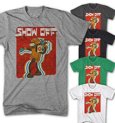 Herr Show Shirt (★Herren T-shirt Show off Dance Robot Disco Casual Comic Game Film Neu SO6415★)