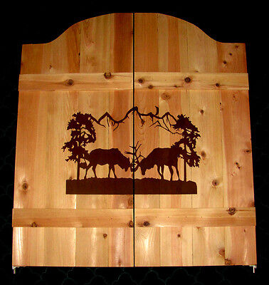 Bull Elk Saloon Cafe Swinging Doors ~ Western Cabin Rustic Decor Man Cave - Saloon Door