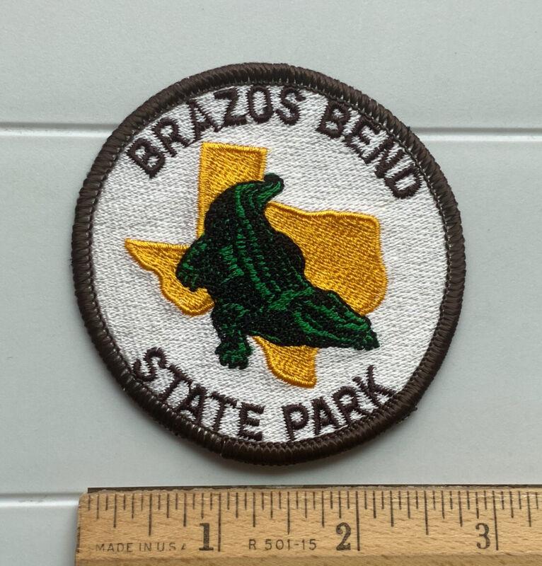 Brazos Bend State Park Texas TX Alligator Gator Souvenir Embroidered Patch Badge