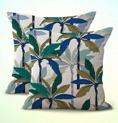 US Seller- set of 2 throw pillow covers island coconut trees cushion (Island Throw Pillow)