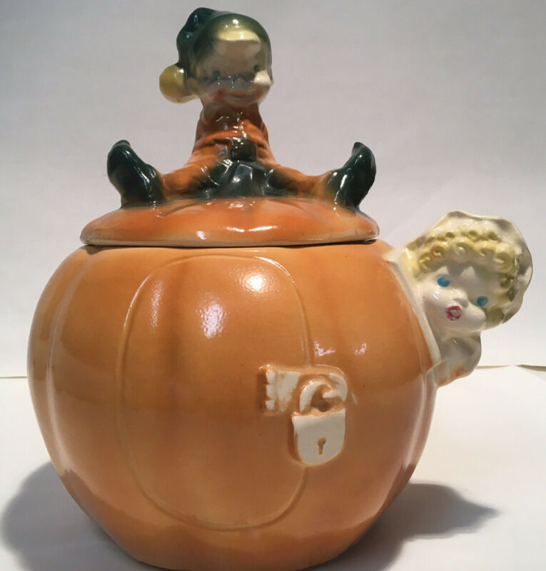 McCoy Peter Pumpkin Eater Cookie Jar (W24), Excellent Condition