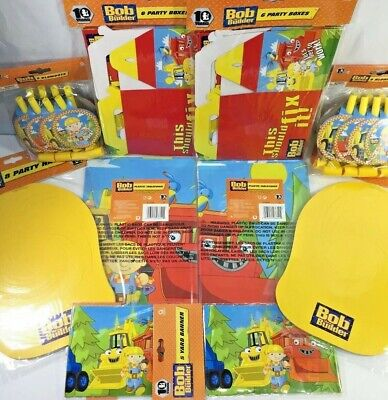 Bob the Builder Birthday Party Favors Blower Hat Tablecloth Loot Box Banner Set