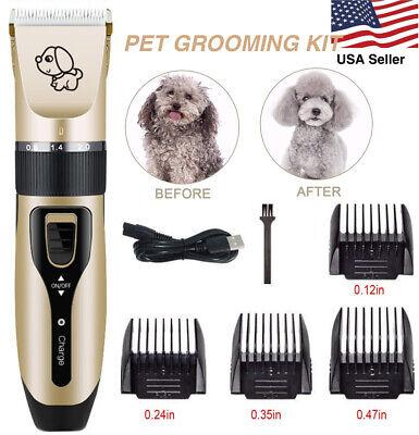 Pet Köpek Kedi Makası Bakım Saç Düzeltici Groomer Tıraş Makinesi Jilet Sessiz Kesme Makinesi