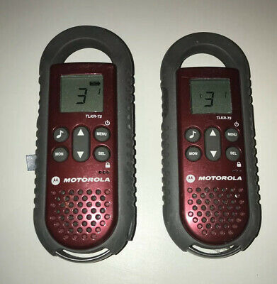 2x MOTOROLA TLKR T5 - Mobile Walkie Talkies