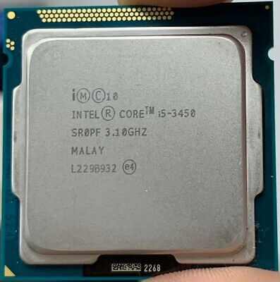 Intel SR0PF Core i5-3450 3.1GHz Socket LGA 1155 Quad Core CPU Processor