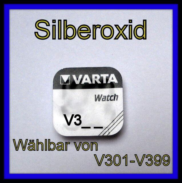 VARTA Silberoxid Knopfzellen V301 - V399 Uhrenbatterie *Frei wählbar*