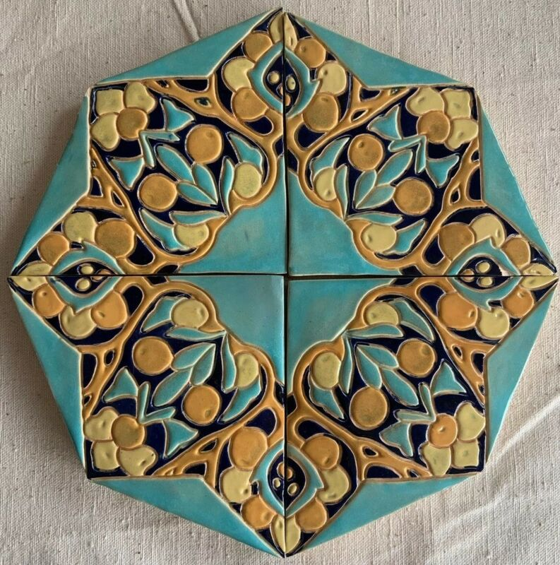 Rare Arts & Crafts Mission Octagonal Tabletop Tile Syla 1931