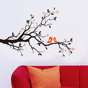 Colorful Tree Birds Flower Removable Vinyl Wall Stickers Decor Mural Decal USA