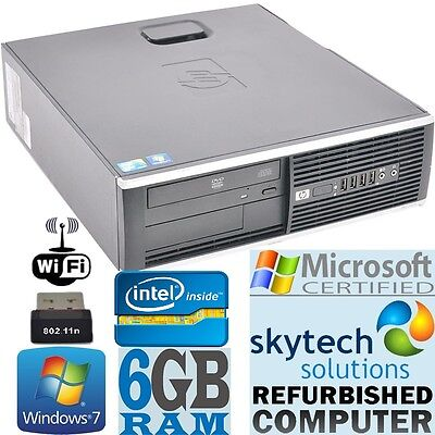Fast HP Dual Core Cheap Computer Desktop PC Windows 7 PRO 6GB RAM 250GB DVD WiFi