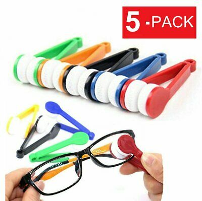 5-Pack Mini Eyeglass Cleaner Sunglass Spectacles Glasses Lens Cleaning Tool Health & Beauty