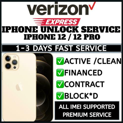 VERIZON IPHONE FACTORY UNLOCK SERVICE IPHONE 12 12 MINI | 12 PRO 12 PRO MAX